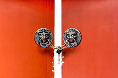 Old Ancient door Chinese style Royalty Free Stock Image