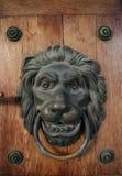 Old ancient door detail, knocker Stock Photo