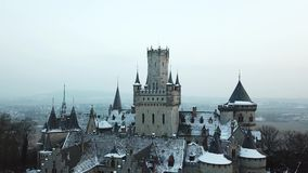 The ancient Marienburg Castle near Hannover, Germany stock video