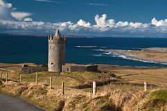 Old ancient irish castle on the west of ireland Stock Images