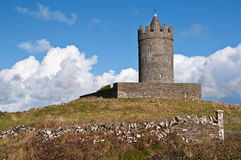 Old ancient irish castle on the west of ireland Royalty Free Stock Image