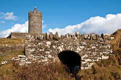 Old ancient irish castle on the west of ireland Stock Photography
