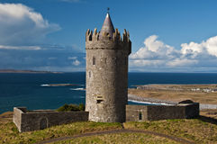 Old ancient irish castle on the west of ireland Royalty Free Stock Photography