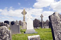 Old ancient Irish Celtic graveyard Royalty Free Stock Photography