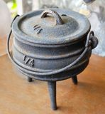 Old Ancient Joss Stick Pot or Incense Burner Royalty Free Stock Image