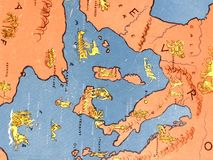 Old ancient map Royalty Free Stock Image