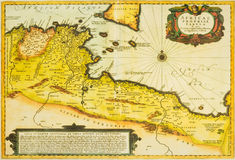 Old and ancient map - Africa. A old and ancient map - Africa Stock Photos