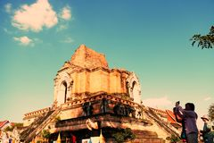 Old Ancient Pagoda in Thailand. stock photo