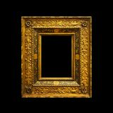 Old ancient painting frame isolated on black Royalty Free Stock Photos