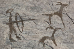 Old ancient petroglyph. Bronze age Royalty Free Stock Photography