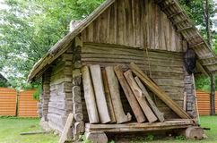 Old  ancient rustic log house Royalty Free Stock Images