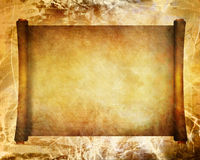 Old ancient scroll Stock Photography