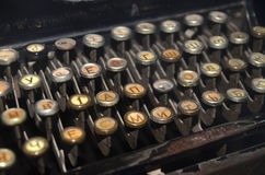 Old ancient typewriter letters Royalty Free Stock Photos