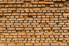 Old Ancient Vintage Grunge Dusty Orange Brick Wall With Some Cra Royalty Free Stock Images