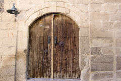 Old ancient wooden castle door Royalty Free Stock Image