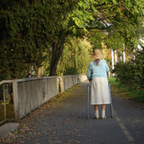 Old And Alone Lady Stock Photography