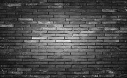 Old And Dirty Brick Wall Black Background, Texture. Royalty Free Stock Photos