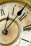 Old And Grunge Clock Face Royalty Free Stock Images