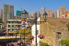 Free Old And New Area In Macau Royalty Free Stock Image - 36048286