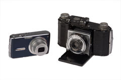 Old And New Photo Camera Royalty Free Stock Image