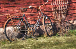 Old And Rusty Bicycle Stock Images