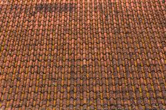 Old And Rusty Ceramic Orange Roof Tiles Texture Stock Photos