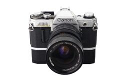 Free Old And Vintage Single Lens Reflex Or SLR Canon AE-1 35mm Film Camera Royalty Free Stock Photography - 189380227
