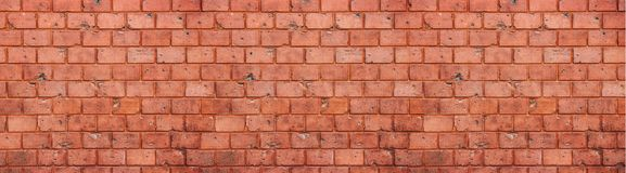 Free Old And Weathered Grungy Red Brick Wall Texture Background In Wide Panorama Format Royalty Free Stock Image - 114439366