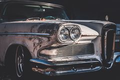 Free Old And Worn Classic American Car From The Fifties Stock Photos - 129255103