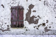 Free Old And Worn Closed Wooden Shutters Stock Photos - 104476373