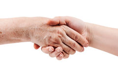 Free Old And Young Hand Stock Image - 23581131