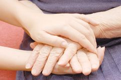 Old And Young Hands Royalty Free Stock Images