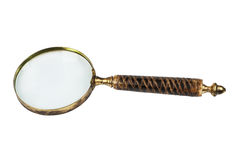 Old anitique magnifier glass. Royalty Free Stock Photography