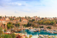 Old Antalya, small historic section at the centre of modern sprawling city. Stock Images