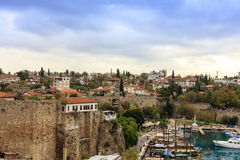 Old Antalya, small historic section at the centre of modern sprawling city. Royalty Free Stock Image