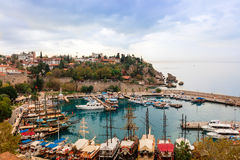 Old Antalya, small historic section at the centre of modern sprawling city. Royalty Free Stock Images