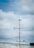 Old antenna for television Royalty Free Stock Photos