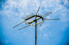 Old antenna for television Stock Images