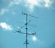 Old antenna for television Stock Photos
