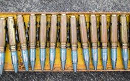 Anti-aircraft bullet 23 mm. Old anti-aircraft bullet 23 mm Stock Images