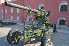 Old anti-aircraft gun Royalty Free Stock Photo