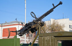 Old Anti-Aircraft Machine Gun Royalty Free Stock Photo