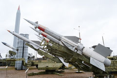 Old anti aircraft missiles Stock Photo
