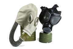 Old Anti-Gas Masks Royalty Free Stock Photos