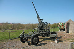 Old antiaircraft gun of the Second World War Royalty Free Stock Photography