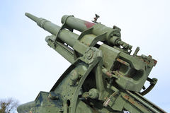 Old antiaircraft gun of the Second World War. In Kotka, Finland Stock Photos