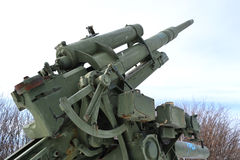 Old antiaircraft gun of the Second World War Stock Photography