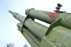 Old antiaircraft gun of the Second World War. In Kotka, Finland Royalty Free Stock Photos