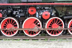 Old antic train wheels Royalty Free Stock Images