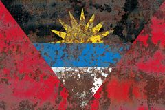 Old Antigua and Barbuda grunge background flag.  Royalty Free Stock Photography
